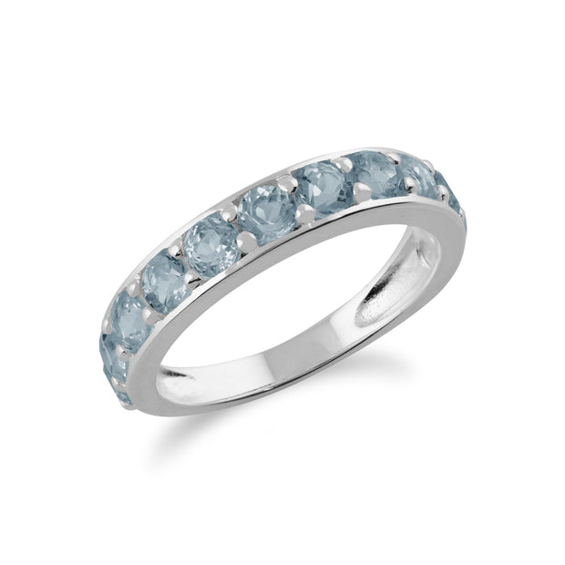 Blue Topaz Half Eternity Ring Image 2