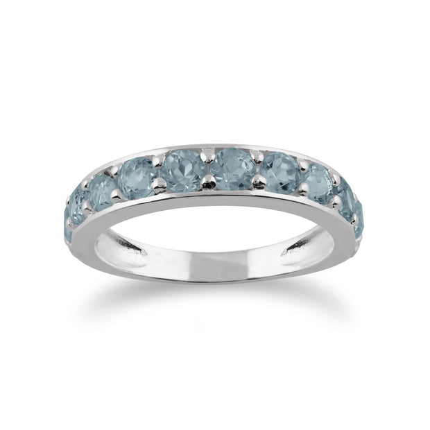 Blue Topaz Half Eternity Ring Image 1