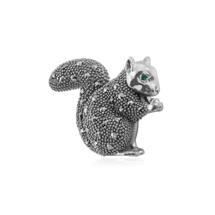 Classic Marcasite Squirrel Brooch Image 2