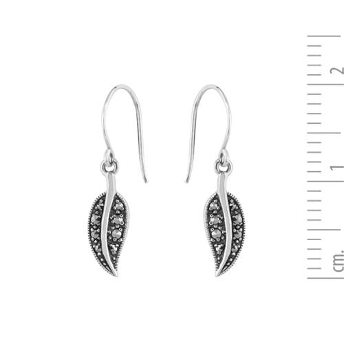 Art Nouveau Marcasite Drop Earrings Image 3