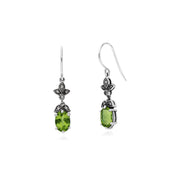 Art Nouveau Peridot Drop Earrings Image 2