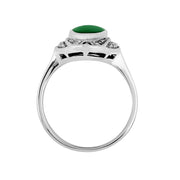 Art Deco Style Green Chalcedony Cocktail Ring Image 3