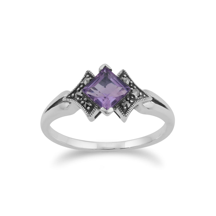 Art Deco Style Amethyst Ring Image 1