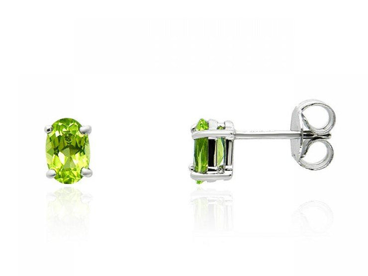 Single Stone Peridot Stud Earrings Image 1