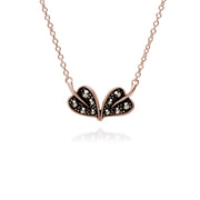 Rose Gold Marcasite Leaf Marcasite Necklace Pendant Image 1