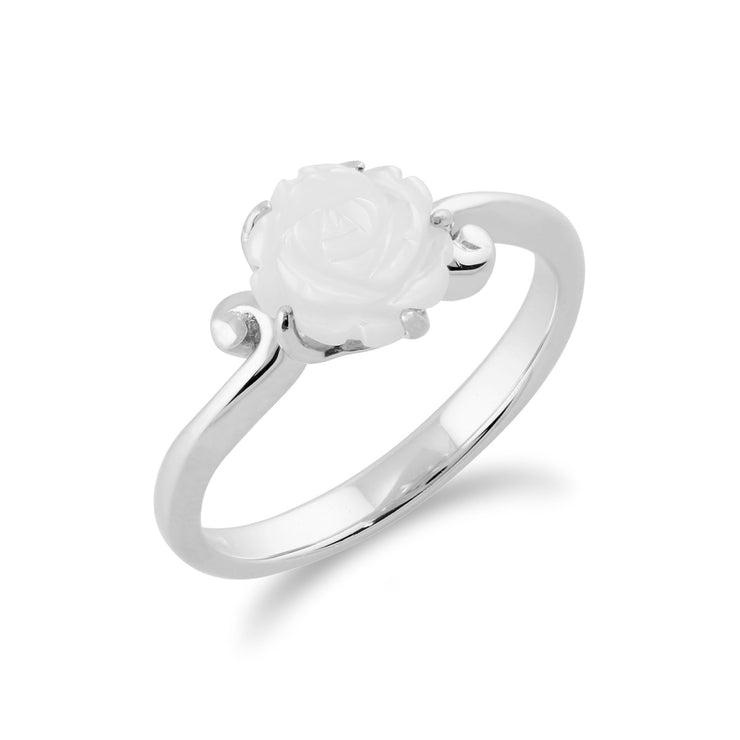 Floral Mother of Pearl Rose Ring Image 2