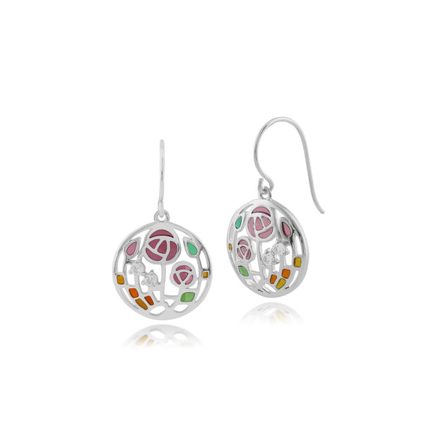 Rennie Mackintosh Topaz Rose Drop Earrings Image 1
