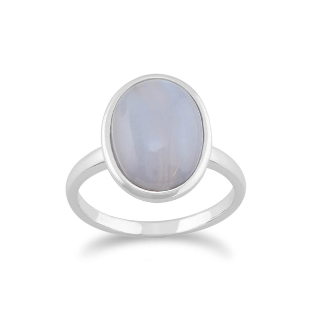 Classic Blue Lace Agate Cocktail Ring Image 1