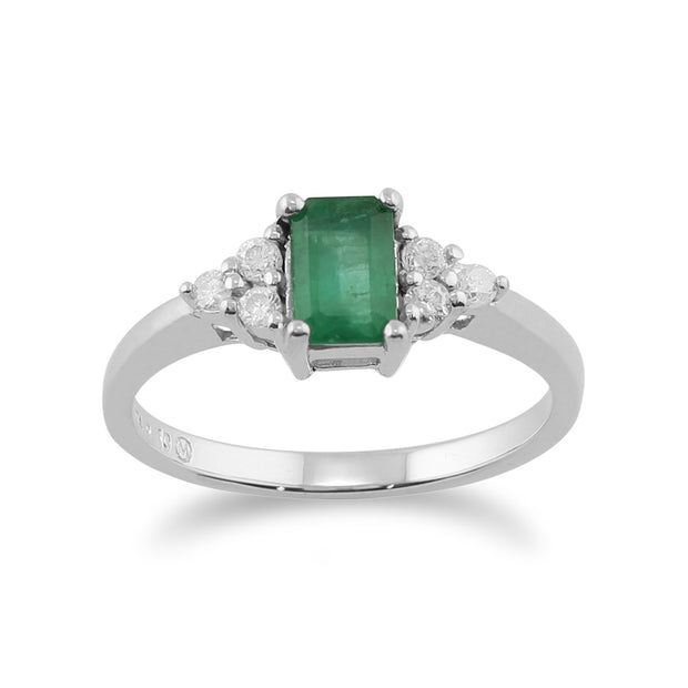 Emerald & Diamond Ring Image 1