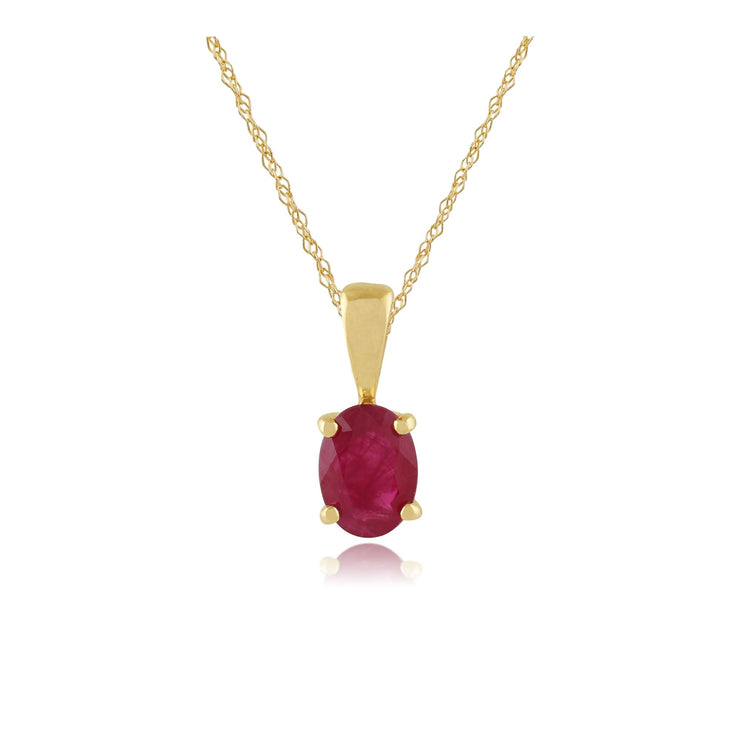 Classic Ruby Pendant on Chain Image 1