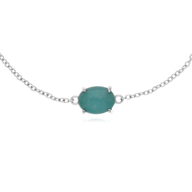 Classic Amazonite Single Stone Bracelet Image 1