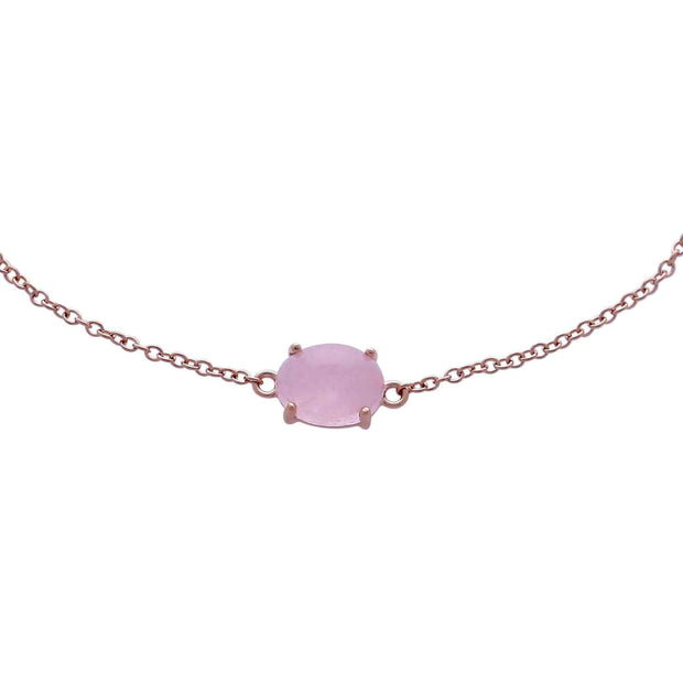 Classic Milky Morganite Single Stone Bracelet Image 1