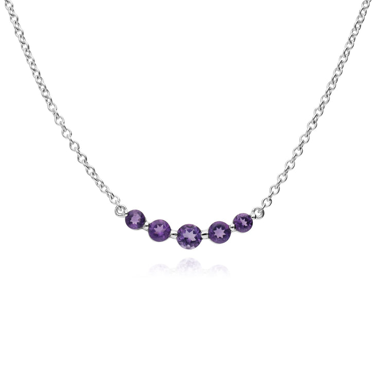 Classic Five Stone Amethyst Necklace Image 1