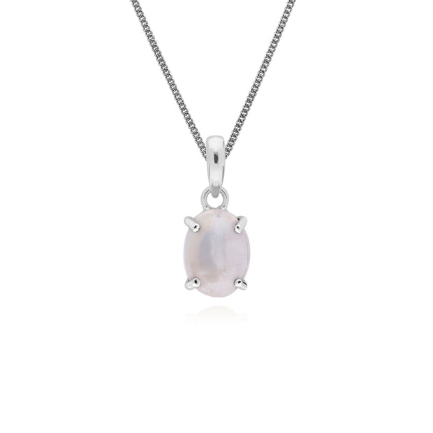 Classic Moonstone Pendant Necklace Image 1