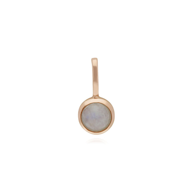 Rainbow Moonstone Rose Gold Charm Image 1