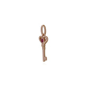 Ruby Rose Gold Key Charm Image 2