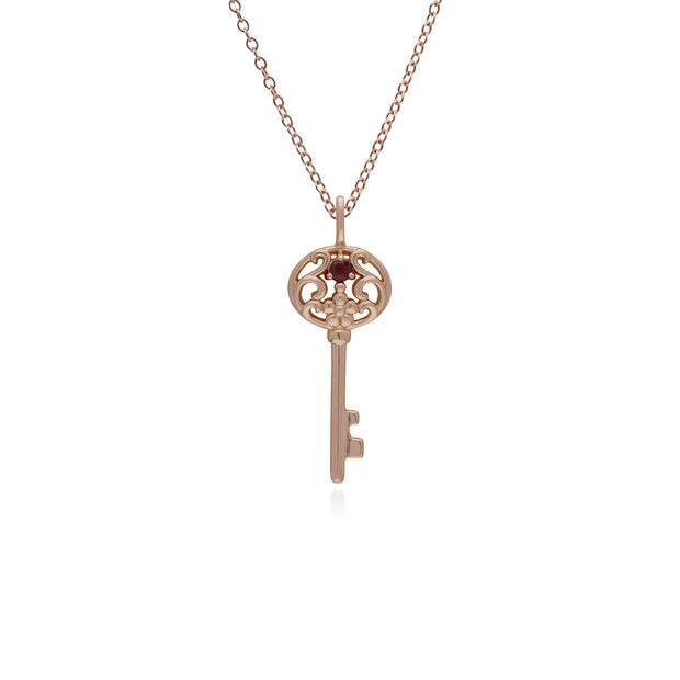 Ruby Gold Plated Big Key Charm Image 1