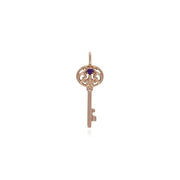 Amethyst Gold Plated Big Key Charm Image 1