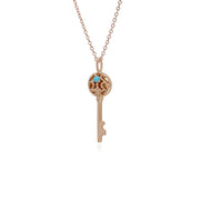 Jade Gold Plated Big Key Charm Image 2