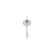 Tanzanite Silver Big Key Charm Image 1