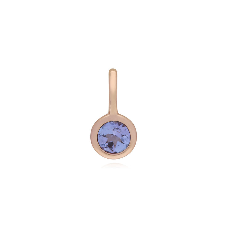 Tanzanite Rose Gold Charm Image 1