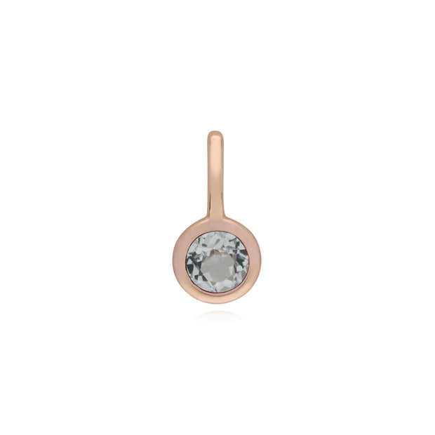Clear Topaz Rose Gold Charm Image 1