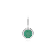 Emerald Single Stone Charm Image 1