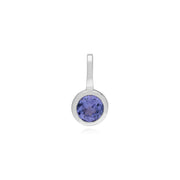 Tanzanite Single Stone Charm Image 1