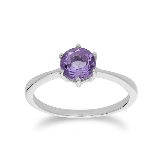 Classic Round Amethyst Ring Image 1