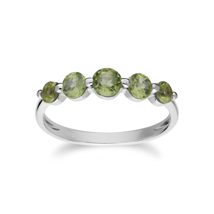 Essential Peridot Five Stone Ring Image 1