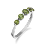 Essential Peridot Five Stone Ring Image 2