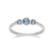 Essential Blue Topaz Three Stone Ring Image 1