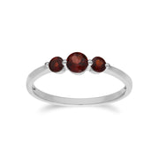 Classic Round Garnet Gradient Earrings & Ring Set Image 3