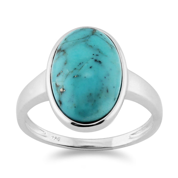 Classic Turquoise Cocktail Ring Image 1
