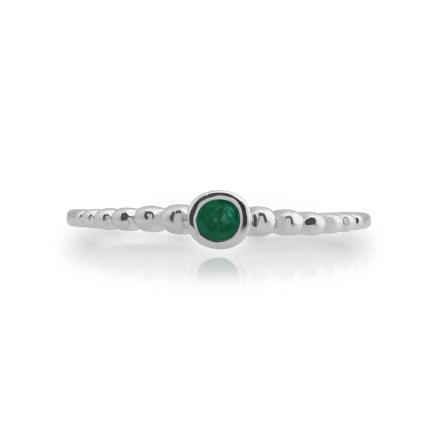 Essential Emerald Stack Ring Image 2
