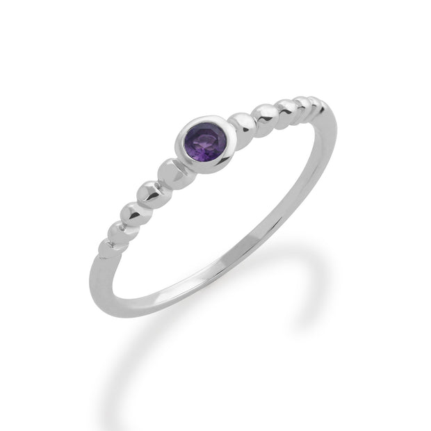 Essential Amethyst Stack Ring Image 1