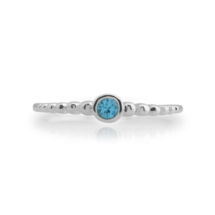 Essential Blue Topaz Stack Ring Image 2