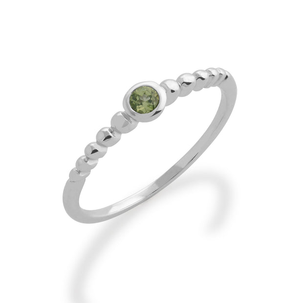 Essential Peridot Stack Ring Image 1