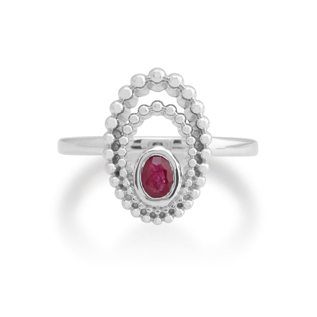 Gemondo 925 Sterling Silver 0.24ct Ruby Ring Image 2
