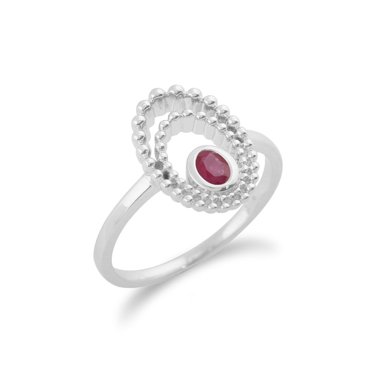 Gemondo 925 Sterling Silver 0.24ct Ruby Ring Image 1