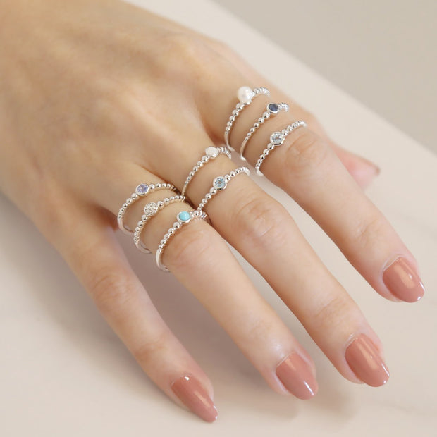 Essential Pearl Stack Ring Image 3