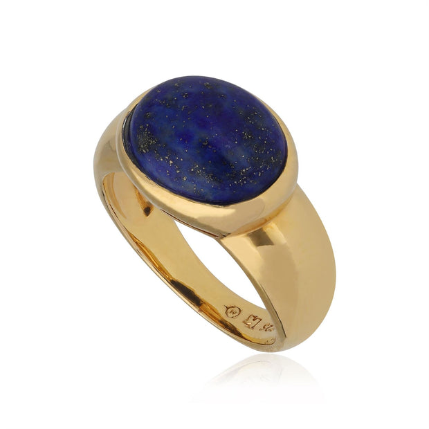 Kosmos Lapis Lazuli Cocktail Ring in Gold Plated Sterling Silver