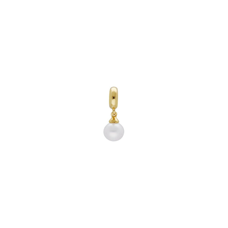 Achievement 'Stone of Purity' Gold Plated Pearl Charm