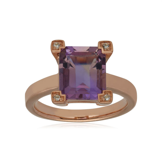 Kosmos Ametrine Cocktail Ring in 9ct Yellow Gold