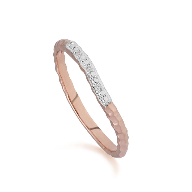 Diamond Pavé Ring Band in 9ct Rose Gold