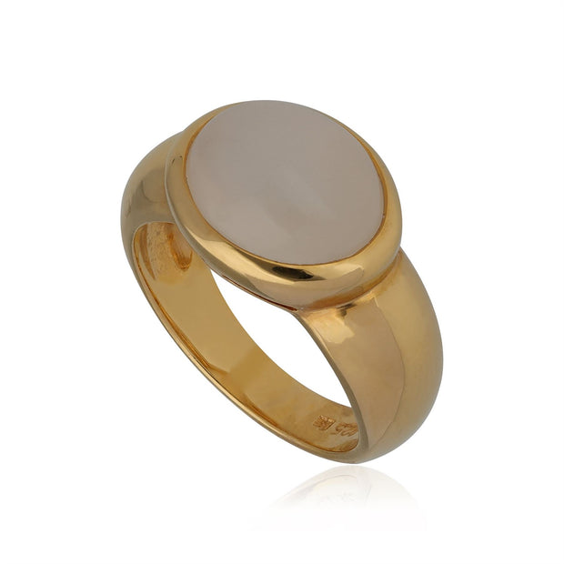 Kosmos Moonstone Cocktail Ring in Gold Plated Sterling Silver