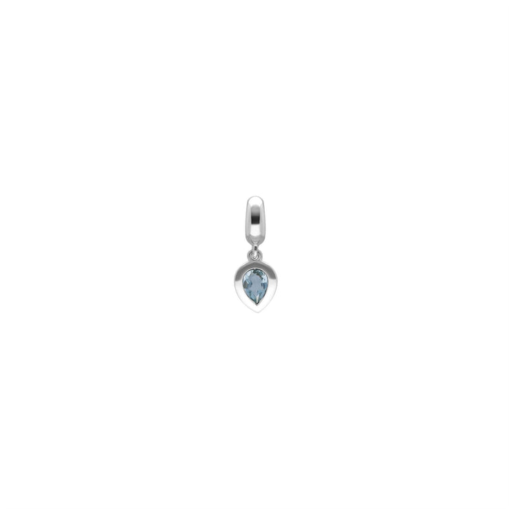 Achievement 'Stone of Serenity' Sterling Silver Aquamarine Charm