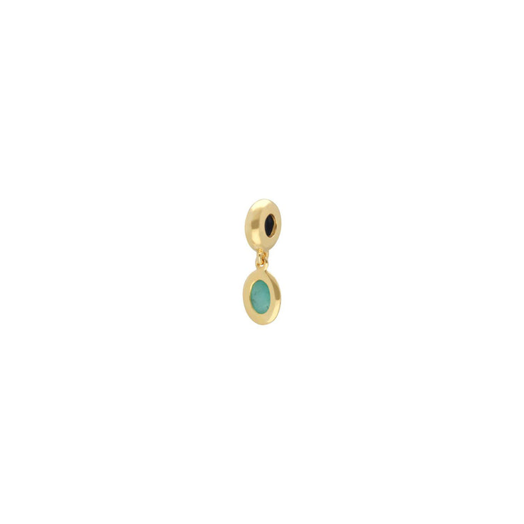 Achievement 'Matriarch's Stone' Gold Plated Emerald Charm