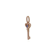 Tanzanite Rose Gold Key Charm Image 2