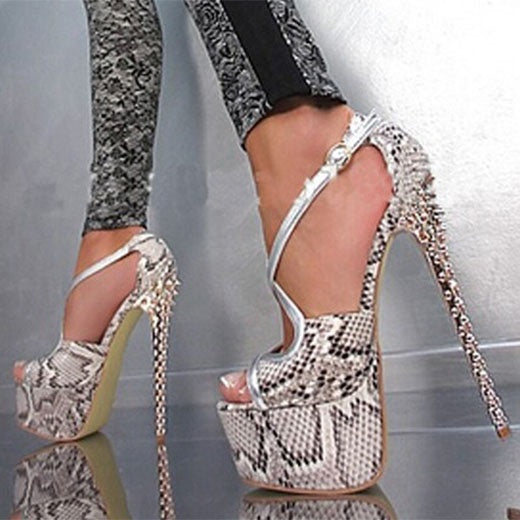 Banquet Buckle Stiletto Heels